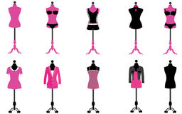 Set of Women Clothing and Garment Royalty Free Stock Image