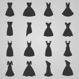 Set of women dress icon,  illustration. Set of women dress,  illustration Stock Photo