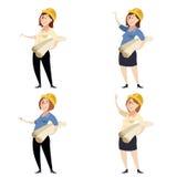 Set of women engineers Stock Images