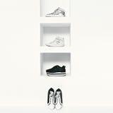 Set women fashion sneakers. Royalty Free Stock Image