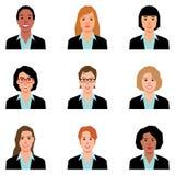 Set of women portraits of avatars Stock Photo
