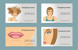 Set of women's business card Stock Image