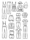 Set of women's casual clothing Royalty Free Stock Photos