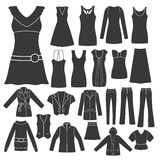 Set of Women's Clothing. Royalty Free Stock Photography