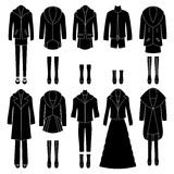 Set of women's clothing. Different combinations. Royalty Free Stock Photography
