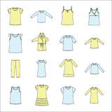 Set of women's clothing. Women's clothes for home. Women's clothes for home. set of women's clothing Royalty Free Stock Images