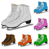 The set women's figure ice skate. Illustration Royalty Free Stock Photo