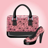 Set of women's handbags with Paisley ornament Royalty Free Stock Images