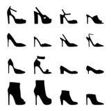 Set of women's shoes,  illustration Stock Photos