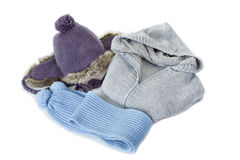 Set of women's winter clothes Royalty Free Stock Image