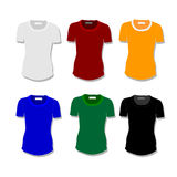 Set women t-shirt Stock Image