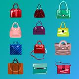Set womens bag icon. Stock Photos
