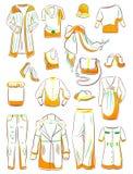 Set of womens clothing. Set of womens autumn clothing Royalty Free Stock Image