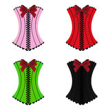Set of womens sexy corset Royalty Free Stock Photo