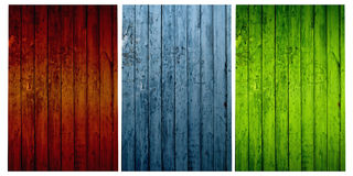 Set of Wood Backgrounds Stock Image