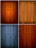Set of wood backgrounds. Vector Royalty Free Stock Images