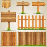 Set of wood elements for design Stock Photography