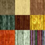 Set of wood fence seamless generated textures Royalty Free Stock Photos
