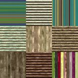 Set of wood fence seamless generated textures Stock Photography