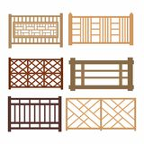 Set of wood fences Stock Images