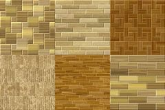Set of wood floor seamless generated textures Royalty Free Stock Photo