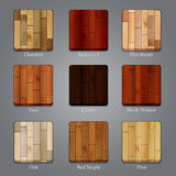 Set of wood icons Stock Image