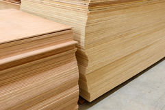 Set of wood pine timber for construction building Stock Photo