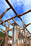 Set of wood pine timber for New Home Construction Royalty Free Stock Photo