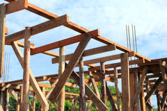 Set of wood pine timber for New Home Construction Royalty Free Stock Images