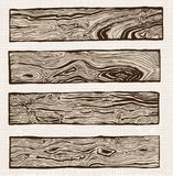 Set of wood plank. Drawing Royalty Free Stock Photos