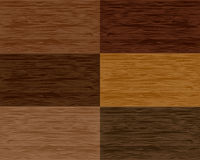 Set wood seamless patterns. Vector Stock Image