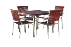 Set of wood table and chair kit Royalty Free Stock Images