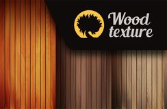 Set of wood texture backgrounds, four colors included royalty free illustration
