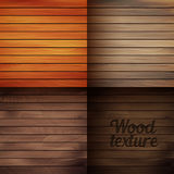 Set of wood texture backgrounds, four colors included Royalty Free Stock Image
