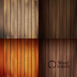 Set of wood texture backgrounds, four colors included Stock Photos