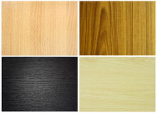 Set of wood textures Stock Images