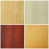 Set of wood textures Royalty Free Stock Photos