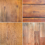 Set of wood textures Stock Image