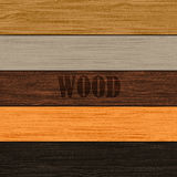 Set of wood textures. Set of wood five textures. Vector EPS10 illustration Royalty Free Stock Photo