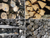 Set of wood textures Royalty Free Stock Images