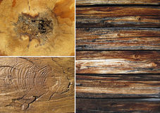 Set of wood textures Royalty Free Stock Image