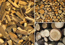 Set of wood textures Stock Photo
