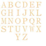 Set of of wooden alphabet isolated Royalty Free Stock Photo
