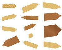 Set of wooden arrows Royalty Free Stock Images