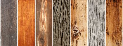 Set of wooden banners Royalty Free Stock Photography