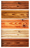 Set of wooden banners Royalty Free Stock Images