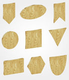 Wooden banners Stock Photo