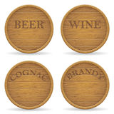 Set wooden barrel vector illustration Royalty Free Stock Photos