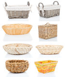Wooden baskets Royalty Free Stock Photo