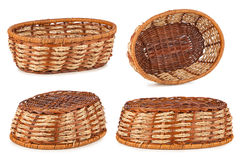 Set of wooden baskets Stock Image